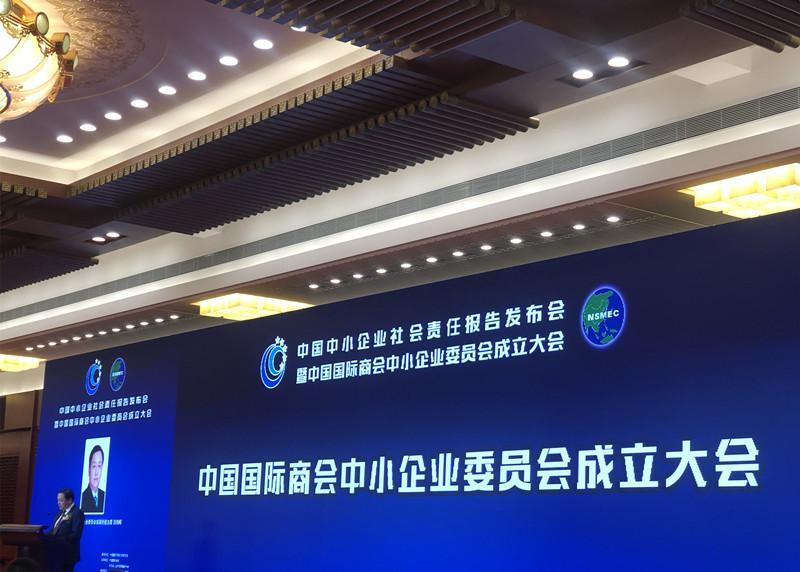 江苏电无忧受邀参加中国中小企业社会责任报告发布会暨中国国际商会中小企业委员会成立大会
